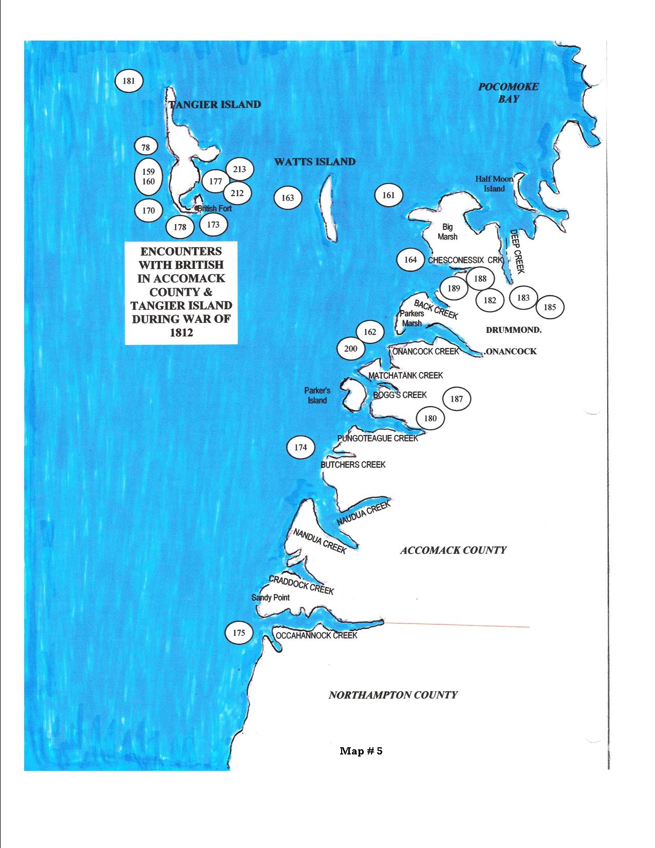 Tangier Island Virginia Map.Map 5 Society Of The War Of 1812 In Virginia